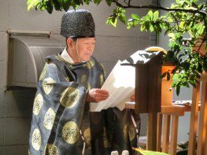 西川口 合格祈願祭 宮司様による祈願